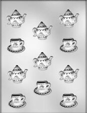 Tea Pots with Cups & Saucers Chocolate Candy Mold from CK #13713