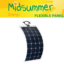 100W 12V semi-flexible solar panel with strong self-adhesive back - boats, yacht