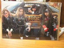 Vintage Rock and roll Slaughter- Race car 1990 poster 157 NICE