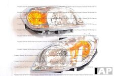 PAIR OF HEADLAMP ASSEMBLY W/ BRACKET CLEAR LENS FOR CHEVY COBALT AND PONTIAC G5