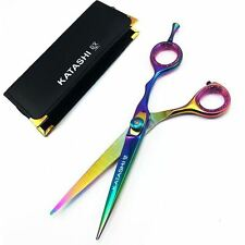 "6"" Katashi Rainbow TITANIUM Barber Scissors Hair Cutting Shears"