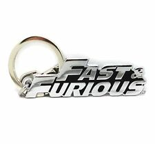 3D Fast &/and Furious Metal Letter Logo Key Ring chain Fob Gift Car Home X'mas