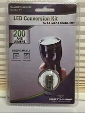 TERRALUX TLE6EX MAG-LITE LED UPGRADE BULB 200 LUMENS fits 4 5 6 D CELL MAGLITE