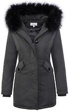 Diseñador chaqueta de invierno para mujer abrigo parka forrado 36 38 40 42 D-218