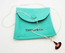 """Tiffany & Co. Witch Hat Charm 18"""" Necklace in Sterling Silver Enamel Finish"""