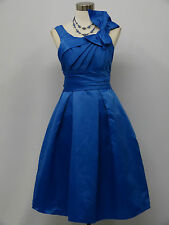 Cherlone Blue Prom Ball Evening Bridesmaid Knee Length Formal Dress Size 12-14