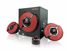 HIPOINT GX92 60W GAMING 2.1 BLUETOOTH STEREO SPEAKER SYSTEM VOLUME CONTROL UNIT