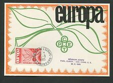 FRANCE MK 1965 EUROPA CEPT STRASBURG MAXIMUMKARTE CARTE MAXIMUM CARD MC CM d5302