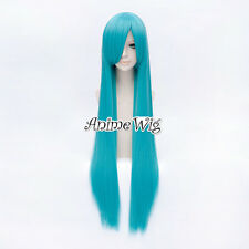 VOCALOID MIKU Lolita Style Light Blue 100CM Straight Long Anime Cosplay Wig