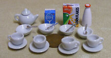 1:12 Scale 20 Piece Breakfast Set Doll House Miniature Cereal Food Accessory L