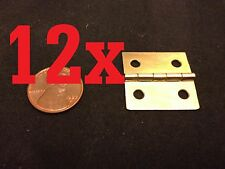 12x gold latch Hinge small mini doll house Antique Carved wood box b23
