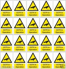 20 Self adhesive vinyl cctv camera security warning stickers alarm Safety signs