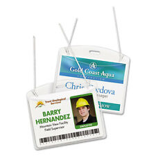 Avery  Photo ID Badge Holder, Horizontal, 4w x 3h, Clear, 100/Box, BX - AVE2922