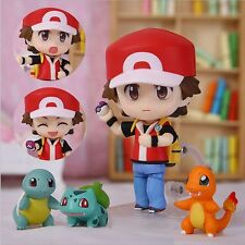 Hot Pokemon Center Ash Ketchum Red 4″ Figure Change Faces with stand gift  Xmas