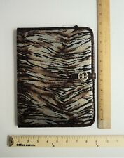 * NEW * Dana Buchman Small Snap Tablet Case Cover Bronze Tiger Print