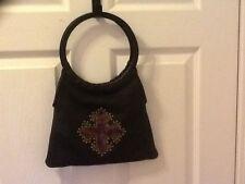 bebe black evening bag