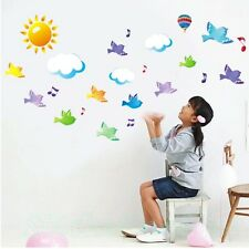 BIRD CLOUD WALL STICKERS NEW POSTER ROOM WALL ART STICKERS HOME DECAL DIY DECOR