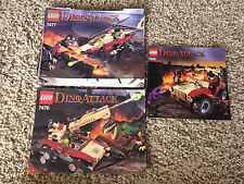 3 Lego Dino Attack Manuals 7476 7477 7475 Instructions Booklet ONLY Lot #2 HTF
