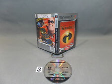 JEU PLAYSTATION 2/SONY/VERSION PORTUGAISE/MICRO RAYURES CD/THE INCREDIBLES