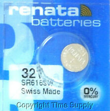 1 pc 321 Renata Watch Batteries SR616SW SR616 0% MERCURY