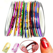 FD3428 Colorful Rolls Striping Tape Line Nail Sticker DIY Kit Art UV Gel 10PCs♫