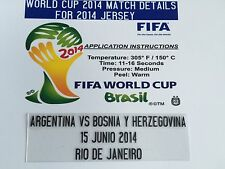 2014 World Cup Match Details,   Argentina vs Bosnia y Herzegovina