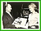 "SYLVIA SYMS & ROY BAKER (Director) in ""Flame in the Streets"" Orig. 1961 - CANDID"