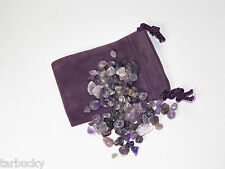 100 carat ct XS  AMETHYST Tumbled CRYSTALS GEMSTONES Power Stone 20g Free Bag FS