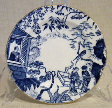 "Royal Crown Derby Blue Mikado 6"" Bread Plate Scalloped Rim"