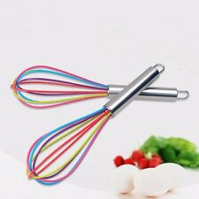 Colourful Stainless Steel Handle Silicone Balloon Whisk Wire Beater Mixer