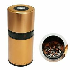 STAINLESS COHIBA COPPER CYLINDER  HUMIDOR W/HYGRO & HUMIDIFIER