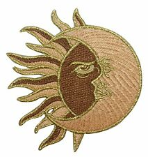 ID 1925 Shared Sun & Moon Face Astrology Embroidered Iron On Applique Patch
