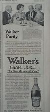 1910 Pure Walkers Grape Juice Bottle Marshmallow Dainty Recipe Original Ad
