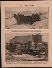WWI Plan Canons Obus Munitions Artillerie / Austria Russia War 1915 ILLUSTRATION