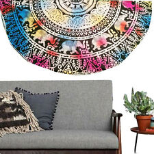 Round India Hippie Boho Tapestry Beach Shower Throw Table Towel Mat Blanket US