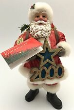 Clothtique Possible Dreams Greeting The Millennium 2000 Santa Claus AS-IS