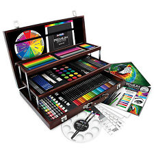 ArtSkills 192 Pieces Premium Artist Wood Case Artist Paint Drawing Art Set Kit