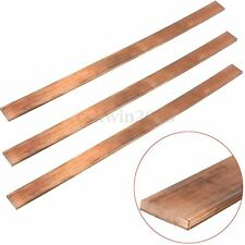 99.6% T2 Purple Copper Cu Flat Bar Strip Plate 3mm x 15mm x 250mm High Purity
