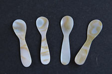 Abalone Shell / Mother of Pearl Delicate Little Spoons - Spice / Beauty - Set 4