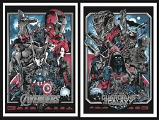 Avengers & Guardians Of The Galaxy Variant Screen Print Set Iaccarino No Mondo