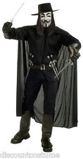 THE V FOR VENDETTA HALLOWEEN COSTUME ADULT STANDARD SIZE