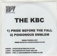 (BY641) The KBC, Pride Before the Fall - DJ CD