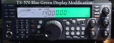 Kenwood TS-570 BLUE GREEN Display Mod 570 570g 570s 570d 570dg kit light hamkitt