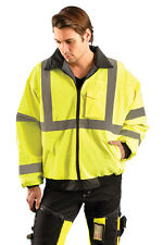 OCCUNOMIX LUX-ETJBJ-YM SAFETY JACKET  - HiViz Yellow Class 3 Bomber Jacket (M)