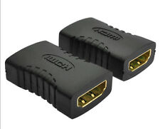 New listing 2X For Hdtv 1080P F/F Female to Female Coupler Connector Hdmi Extender Adapter#