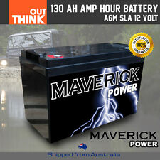 130AH AMP HOUR BATTERY AGM 12 VOLT 12V DEEP CYCLE DUAL FRIDGE SOLAR