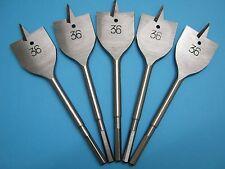 Machine Flat Wood Drill Bit 36mm x 5 - Flat Head Bit Cutter 36mm
