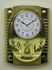 Large Gold Wall Clock with Revolving Pendulum  -  Home or Office  LP14977