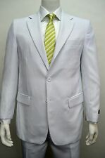 Men's Classic Fit White Dress Suit Size 44R NEW Suit