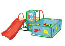 TOY MONSTER Active Play 3 in 1 GYM SET, Kids Indoor Portable SLIDE & BALL PIT